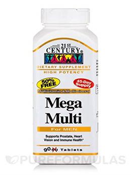 ▶$1 Shop Coupon◀  21st Century Mega Multi for Men Multivitamin Multimineral 90 Tablets