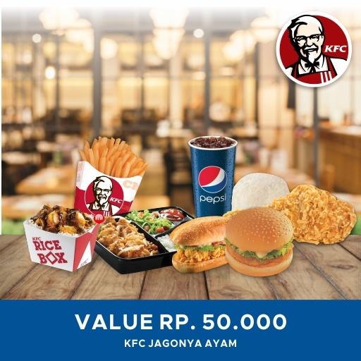 [Restoran] Promo KFC/ Tersedia seluruh cabang KFC di Indonesia/ Value Voucher/ 50K Deals for only Rp47.500 instead of Rp47.500
