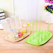 Baby Milk Bottle Drying Rack Bottles Drainer Storage Rack Countertop Rack