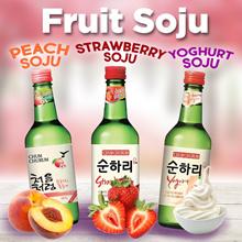 🍓 Korean FRUIT Soju 🍑 Strawberry / Peach  /  360ml / 8 Flavors