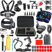 5 Colors 46 Items Action Camera Accessories Kit for Sports Gopro Hero 5/4/3/2 Silver Black SJCAM Un