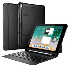 [IVSO] CASE-IPAD-9.7-4IN1 - New iPad 9.7 2018 Case With Keyboard, Ultra-Slim Portable DETACHABLE Blu