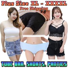 [ORTE]  PLUS SIZE Fashion XL-XXXL★Tubes★Panties★Bra★Leggings★Shorts★Skinny Pant★ Skirt★Fast Delivery