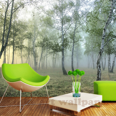 Custom 3d Wall Mural Wallpaper Nature Landscape Green Forest 3d Non Woven Photo Wall Paper Home Deco