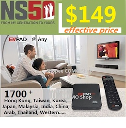 Use $30COUPON FREE $50 NTUC Voucher FREE UP EVPad3 TV Android Box $0 Fee 1700+ 2.4Ghz + 5Ghz