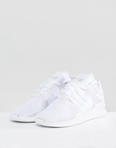 reputable site 02fb6 592fe adidas Originals EQT Support ADV Primeknit Sneakers In White BY 9391