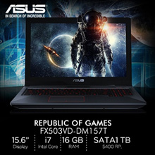 Asus ROG FX503VD-DM157T/ 15.6/ i7-7700HQ/SATA 1TB 5400RPM/  2 Years International Warranty/