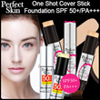 [Perfect Skin]One Shot Cover Stick Foundation SPF50 PA++! ★♥For each 2pcs item+FREE GIFT(LIP STICK)/Korean artists Ceramic Skin Make-up Secret ! Must Buy! 12.5g (Including Brush)