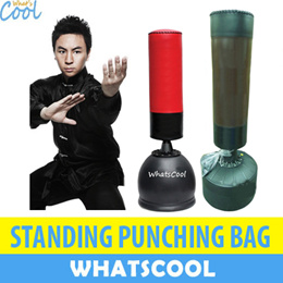 Standing Punch Bag Heavy Boxing Punching Hanging Home Gloves Leather PVC Synthetic