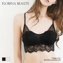 Florina Beaute Satin Lace Wireless Bralette Ma Vie (Made in Japan Sizes M-LL)(C0818FB800)