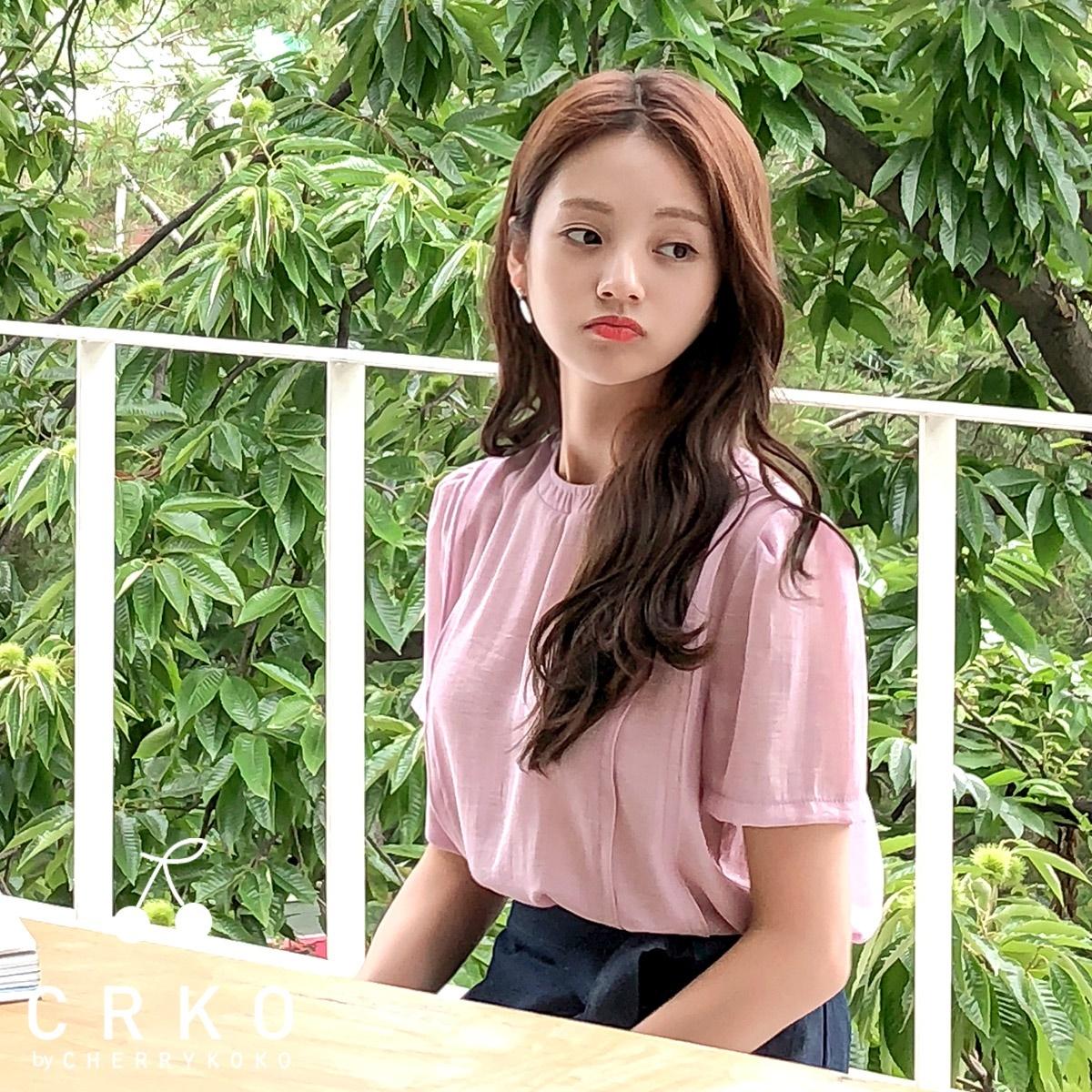 [CHERRYKOKO官方旗艦店] 圓領襯衫 Daily Round Neck Blouse / a peony blouse