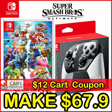 Apply$12 (11~13 Dec)◆Pro Controller for Super Smash Bros Ultimate Nintendo Switch Console