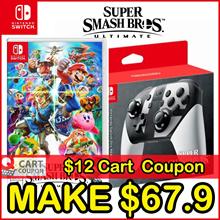 Apply$12 (11~13 Dec)◆Pro Controller for Super Smash Bros Ultimate Nintendo Switch Console