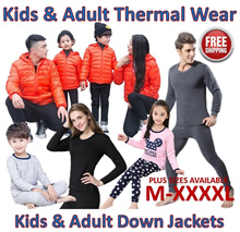Kids Adult Winter Thermal Wear ♥Down Jackets♥Travel upto -10 degrees♥Wool Pyjamas♥Free Shipping