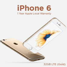 (Applied RM 100 Coupon Discount) Apple iPhone 6 32GB LTE (Gold) 1 Year Apple Local Warranty (Brand New and Sealed)