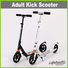 ★ Adult Kick Scooter ★ Outdoor Travel Foldable Portable Easy To Carry Bike with Durable PU Wheels