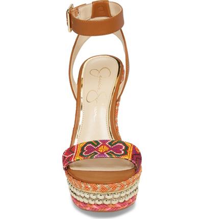 533a3e9a7fb Qoo10 - Jessica Simpson Alinda Embellished Wedge Sandal (Women ...