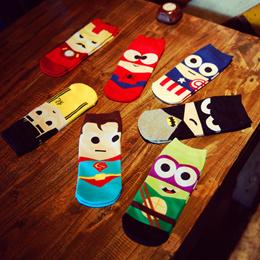 *New Arrival* Superhero Marvel Avengers Dc socks/Invisible Socks Christmas/ party/ goodie bag