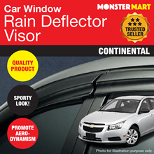 ★QUALITY★ Car Rain Deflector Visor (CONTINENTAL)