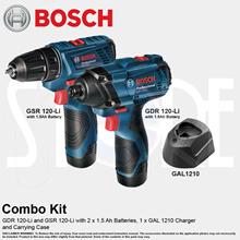 Bosch 12V 2PC Combo Drill GSR 120 Drill  GDR 120 Li Impact Driver**Free Gift*