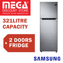 SAMSUNG RT32K503ASL 321L 2 DOORS REFRIGERATOR / FRIDGE / LOCAL WARRANTY