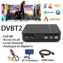 Today$16.8❤2018 Singapore Mini Digital  DVB T2 TV Set-top Box ★ Indoor Antenna ★ Support 1080P