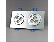 6*1W 3000K 600LM Warm White Light LED Ceiling Spotlight (Silver)