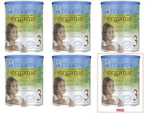 Buy 5 Free 1 Bellamy´s Organic Step 3 Organic Toddler Milk Drink (900g*6)