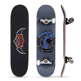 PUENTE 608 ABEC - 9 Adult Four-wheel Double Snubby Maple Skateboard for Entertainment
