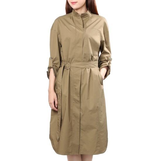 ナイスクルラプトレンチロングワンピースN173MSE013 面ワンピース/ 韓国ファッション