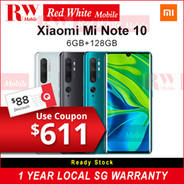 Xiaomi Mi Note 10 6/128Gb-Xiaomi Local Warranty Set