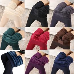 Winter Warm Girl 8Colors Cotton Velvet Women Cotton Tights Pants Leggings Stirrup Trousers