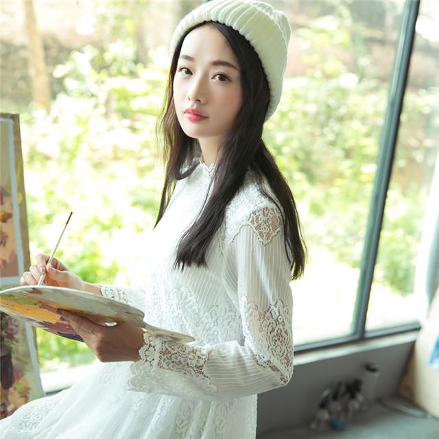 秋冬新作!!!可愛いξ(✿ ❛‿❛)ξワンピース レディース 大人気 ホワイト おしゃれ *送料無料*