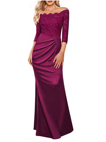 Plus Size S-2XL Euro Fashion Dinner/Wedding Luxury Dress