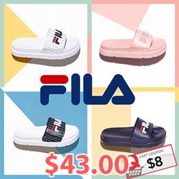 [FILA] Couple Sandals Slipper Drifter Jacked Up Stripes / Drifter Stripes/ Fur Sandals
