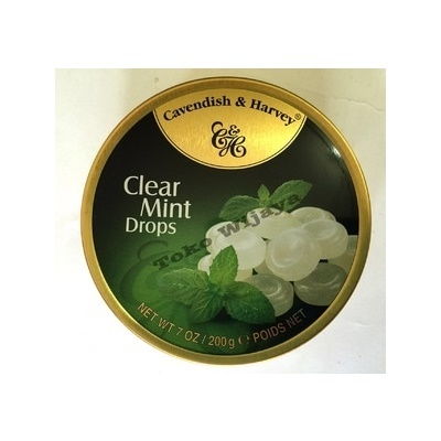 Permen Cavendish Harvey Clear Mint Drops
