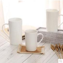 Bone china simple ceramic mug large capacity cup coffee cup American cup latte