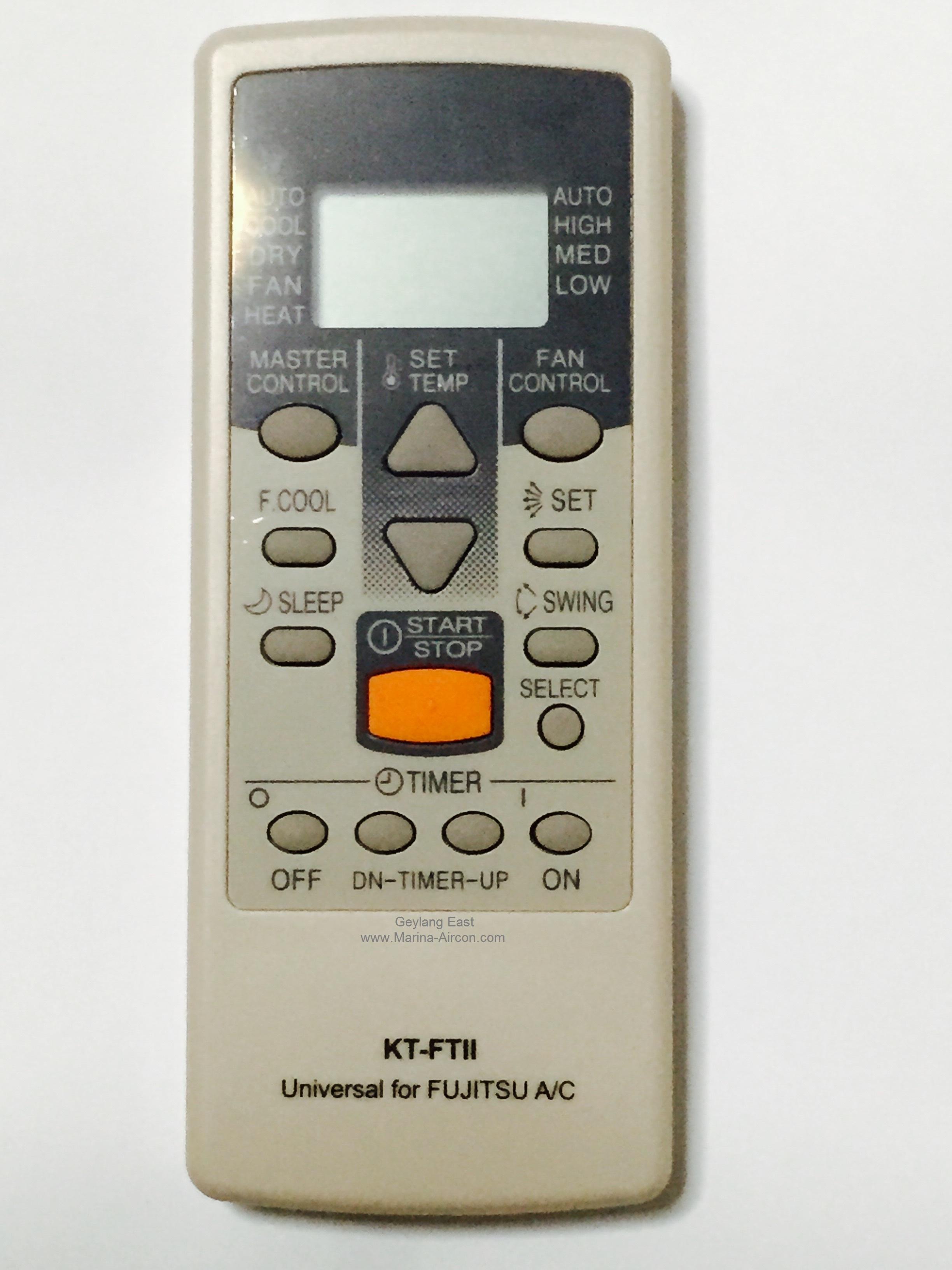 ★Local Shop★(1 MONTH WARRANTY) Fujitsu AirCon Remote Control A/C Air Con  Air-Conditioner (Universal)