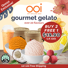 [OOI Gelato] BUY 2 FREE 1 Halal Ice Cream at $19.90 FREE DELIVERY  | Over 20 Flavours Durian Yuzu