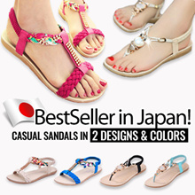 Bestseller in Japan Beach sandals  2 style colorful floral  sandal slippers low-heeled shoes