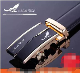 Arctic wolf genuine automatic buckle belts men s leather belts Korean wave leisure middle-aged stude