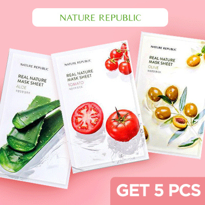 Get 5 Masks! Nature Republic Real Nature Mask Sheet Deals for only Rp60.000 instead of Rp75.000