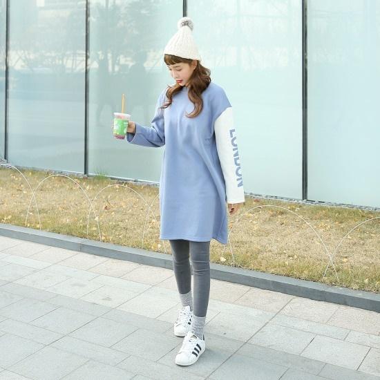 クルリクエンミクイ起毛ワンピース 綿ワンピース/ 韓国ファッション