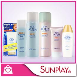 Sunplay Skin Aqua Sarafit UV Mist range / Skin Aqua Whitening Moisture Milk SPF50 PA+++ 40g / UV Sup