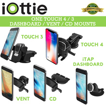 NEW iOttie Easy One Touch Mini / 4 and 4 Wireless Fast Charging★One Touch Vent and CD Mount★iTap 2