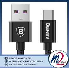 BASEUS SPEED SERIES TYPE-C 5A QC3.0 CABLE FOR HUAWEI TYPE-C 1M BLACK