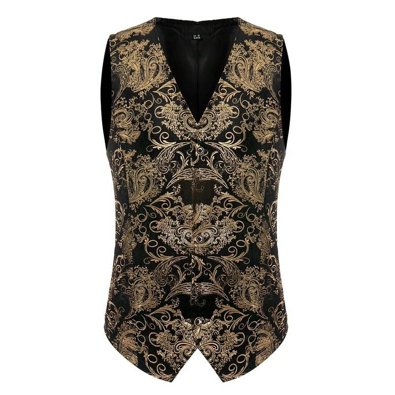 39d5596d6b546c fit to viewer. prev next. Tuxedo Vest Men 2017 Fashion V-neck Sleeveless ...