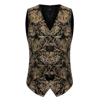 d4771d22f0df75 Tuxedo Vest Men 2017 Fashion V-neck Sleeveless Business Dress Suit Button  Down Vests Casual