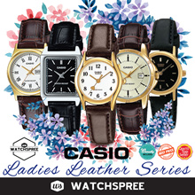 *APPLY 25% OFF COUPON* *CASIO GENUINE* Ladies Leather 1! Free Shipping and 1 Year Warranty.