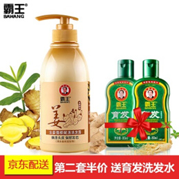 Overlord (Bawang) Ginger Shampoo anti-hair chip control oil men and women old ginger juice strong ro